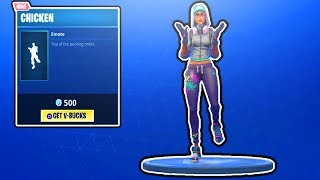 FORTNITE NEW CHICKEN EMOTE! ITEM SHOP UPDATE! FREE V-BUCKS GIVEAWAY! FORTNITE BATTLE ROYALE