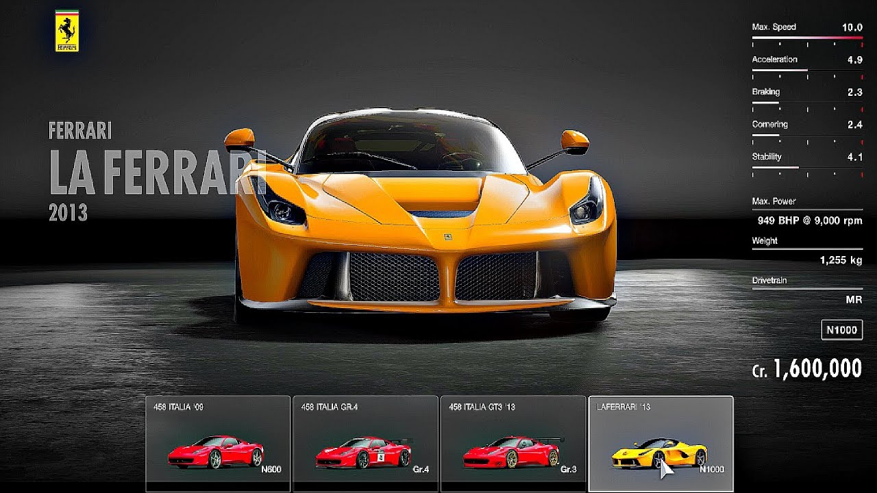 Gran Turismo Sport All Cars Full Car List YouTube - List of sports cars