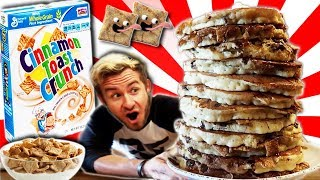 THE ULTIMATE CINNAMON TOAST CRUNCH PANCAKE CHALLENGE! (15,000+ CALORIES)