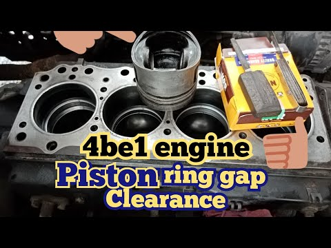 4BE1 engine/ring gap clearance/install piston ring/installing piston/ isuzu 4BE1 engine