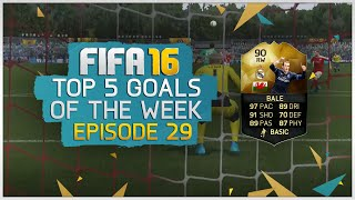 Top 5 Goals of the Week! Episode 29 ft. TIF Bale (90) | FIFA 16