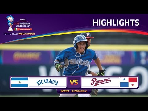 Highlights: No. 18 Nicaragua v No. 15 Panama - U-23 Baseball WorldCup - Super Round