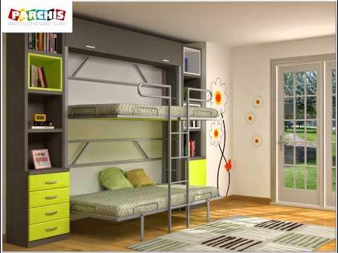 Literas plegables metalicas para chicos y chicas muebles escamoteables infantiles y juveniles - Muebles infantiles y juveniles ...