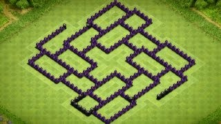 Clash Of Clans - Best Town Hall 8 Trophy Base (The Mosaic) Speed Build - 2014