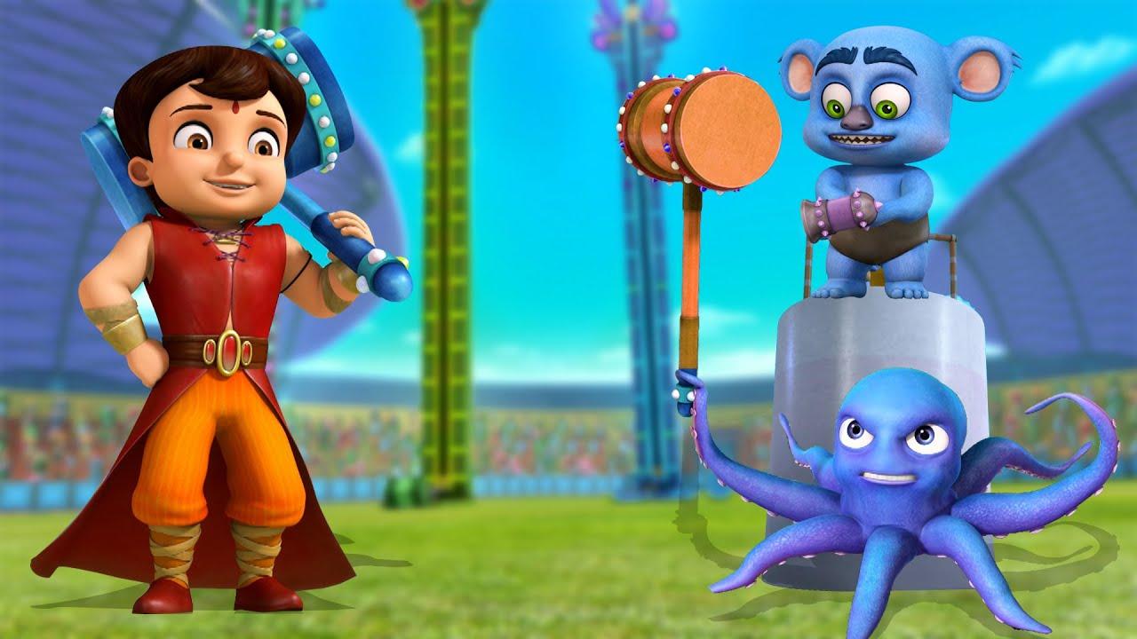 Super Bheem VS Octopus - Kaun Hai Shaktishali?   कौन है शक्तिशाली?   Cartoon for Kids in Hindi