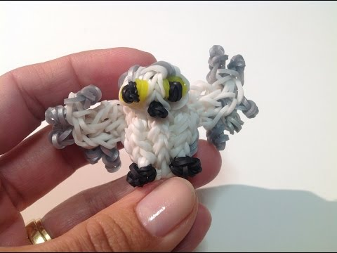 Rainbow Loom Nederlands, 3d sneeuwuil (Harry Potter uil, Hedwig :-)