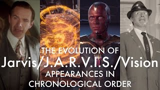 The Evolution of Jarvis/J.A.R.V.I.S./Vision (Appearances in chronological order up to WandaVision)