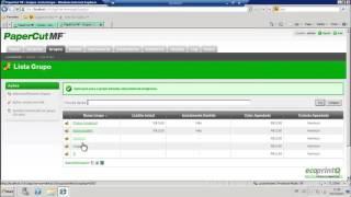 PaperCut: Configuração de centro de custo