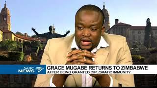 Dr Gabilla Nubung on Grace Mugabe's immunity