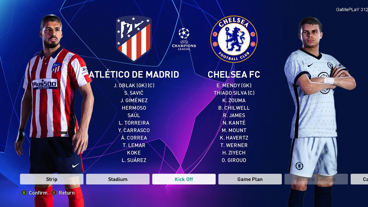 PES 2021 - Atletico Madrid vs Chelsea FC - UEFA Champions League UCL -  Gameplay PC - YouTube