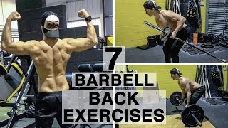 7 Barbell Back Exercises
