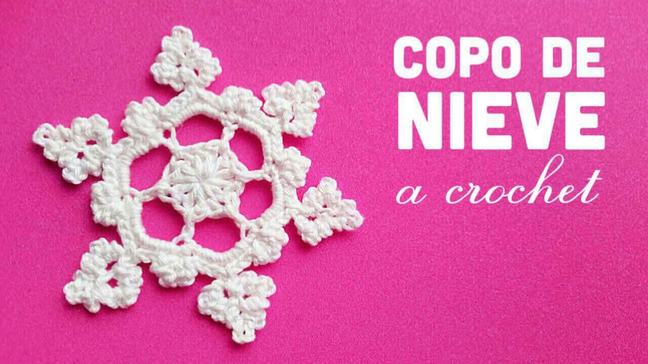NAVIDAD | Copo de Nieve a Crochet ··· XMAS | How to crochet a ...