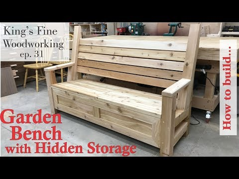 31 - How to Build Garden Bench with a Hidden Storage Compart
