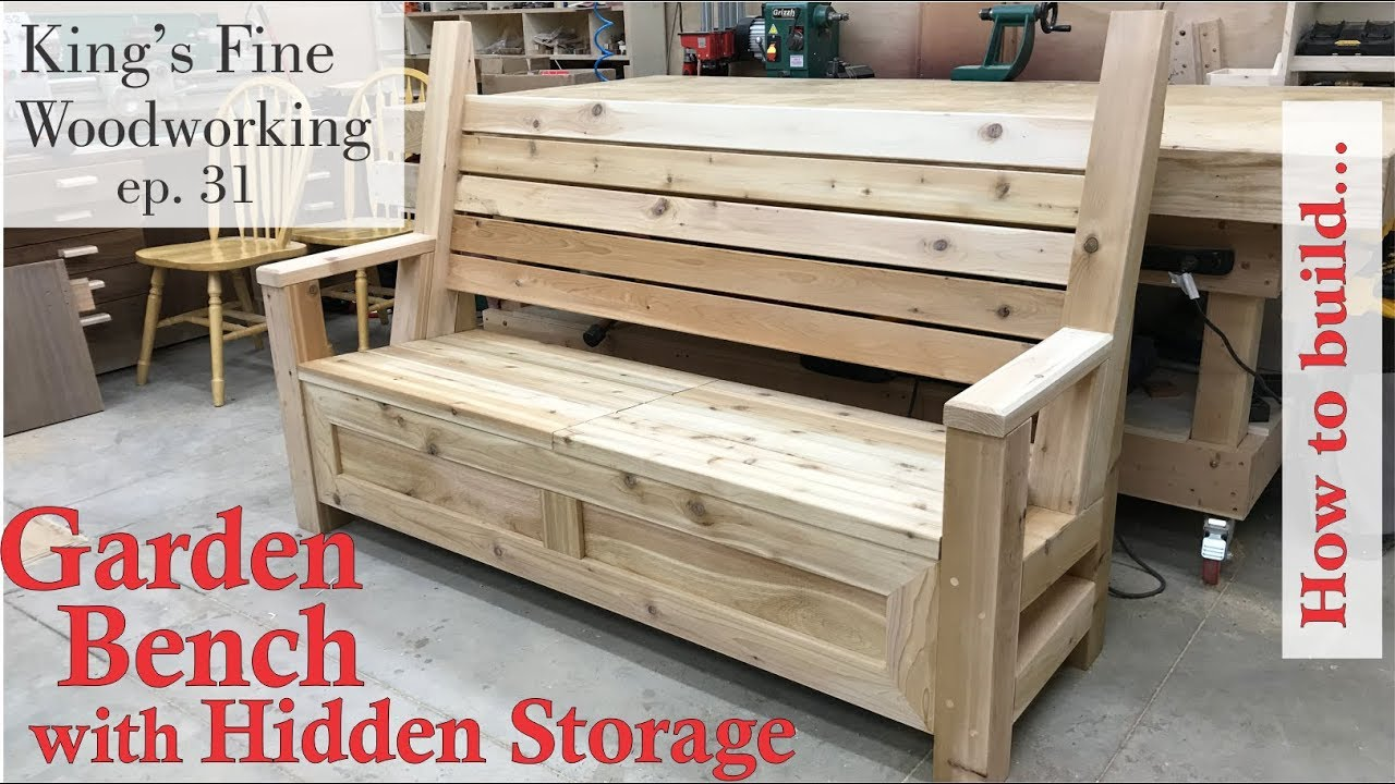 Small Garden Bench 31 How To Build Garden Bench With A Hidden Storage Compartment