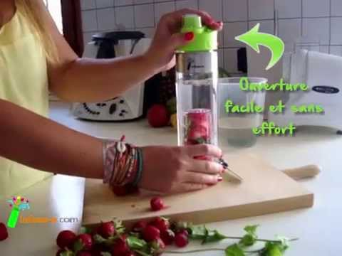 infuse o bouteille infusion detox water youtube. Black Bedroom Furniture Sets. Home Design Ideas