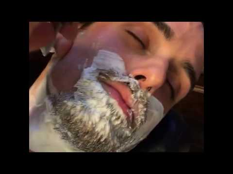 Straight Razor Shave - Barber Shaves Beard Off