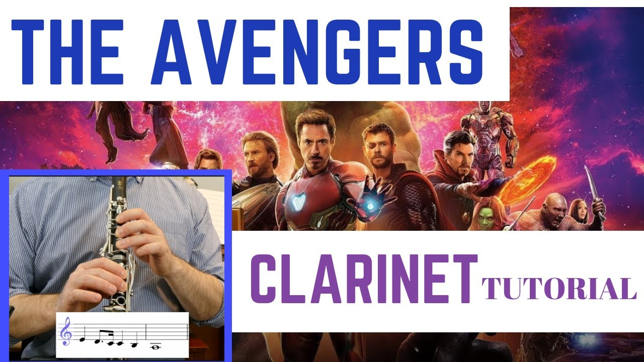 THE AVENGERS THEME   Clarinet Tutorial