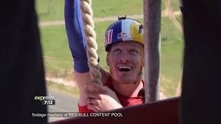 Thomas van Tonder's Record-breaking 50m Rope Climb