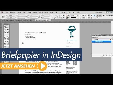 InDesign Tutorial - Professionelles Briefpapier erstellen