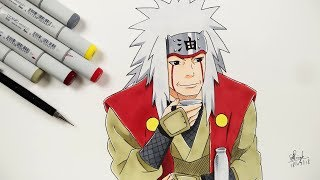 How To Draw Jiraya - Step By Step (Tutorial) - Naruto Shippuden