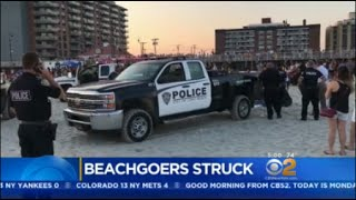 Beachgoers Struck