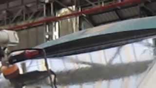 Deopacizzazione parabrezza treno,corrosione da acido o graffi vandali,decalcificazione su vetro.
