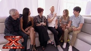 The Judges play 'I Have Never' with Caroline & Matt - Auditions Week 1 - The Xtra Factor UK 2013
