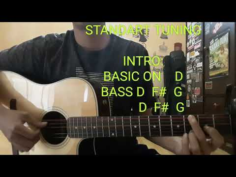 Hitam putih - fourtwnty (guitar tutorial)