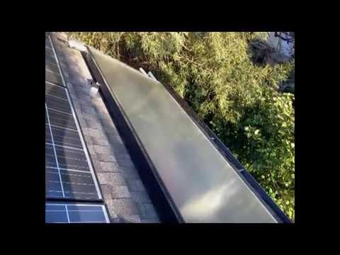 GB tankless-solar installation