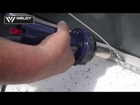 Welding of Sarnafil T welding cord with WELDY energy 1600