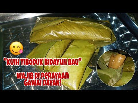 Kuih Tiboduk Dowon Kuih Tradisional Hari Gawai Suku Kaum Dayak Bidayuh Bau Di Sarawak Youtube
