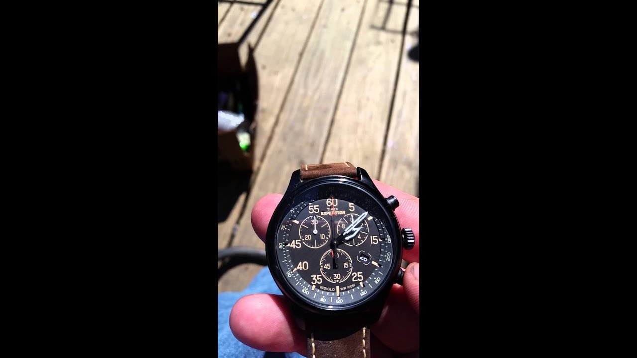 c1869cf9acfb Timex Expedition Feild Chronograph How-to - YouTube