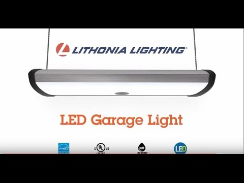 Super LED Garage Light with Motion Sensor from Lithonia Lighting
