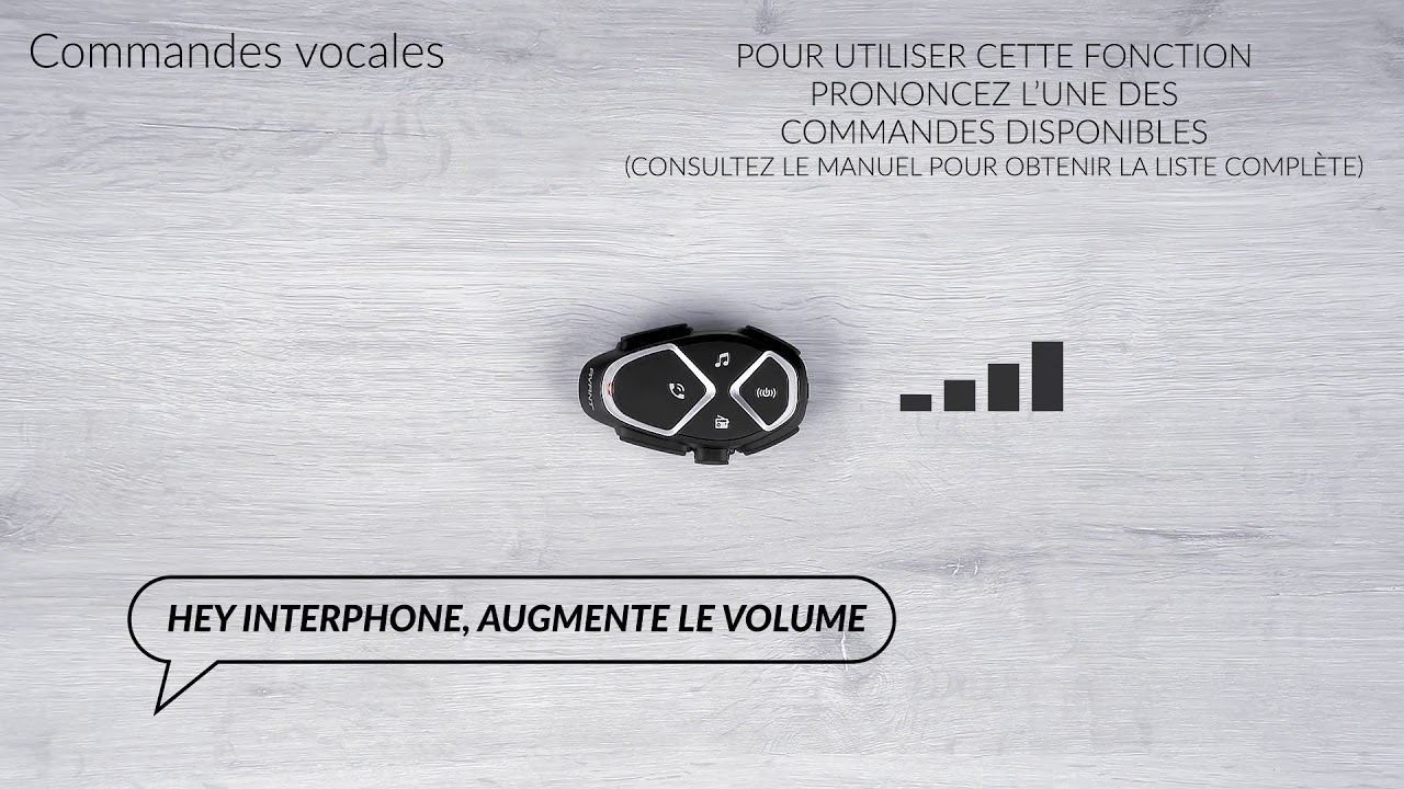 Interphone Avant, commandes vocales