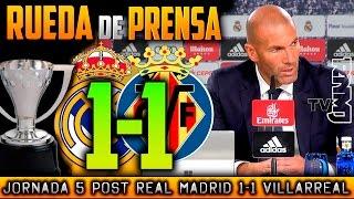 Rueda de prensa Real Madrid 1-1 Villarreal | RDP POST JORNADA 05