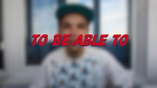 To Be Able To - Learn English online free video lessons(This video is about the verb