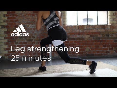 25 min Leg Strengthening Workout with Zanna van Dijk | adidas women workouts
