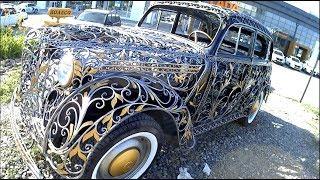 заценили кованый автомобиль Москвич 400 1946-1956г