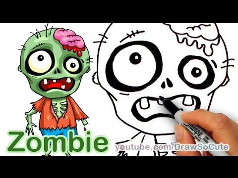 How To Draw A Zombie Easy Youtube