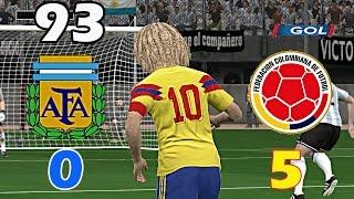 ⚽ ARGENTINA 0-5 COLOMBIA Goles Eliminatorias Estados Unidos 94 Recreación/Remake en Pes 2017
