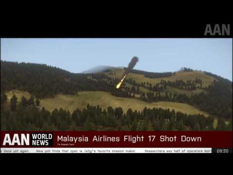 Malaysia Airlines Flight 17 Shot Down by Ukranians   Live Footage of the Crash