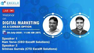 Free Live Webinar On Digital Marketing As A Career Option