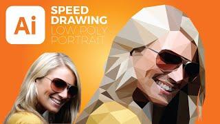 Illustrator Low Poly Portrait