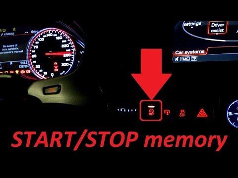 Audi A8, MY2015 - start/stop memory function activation - spominska  funkcija start/stop