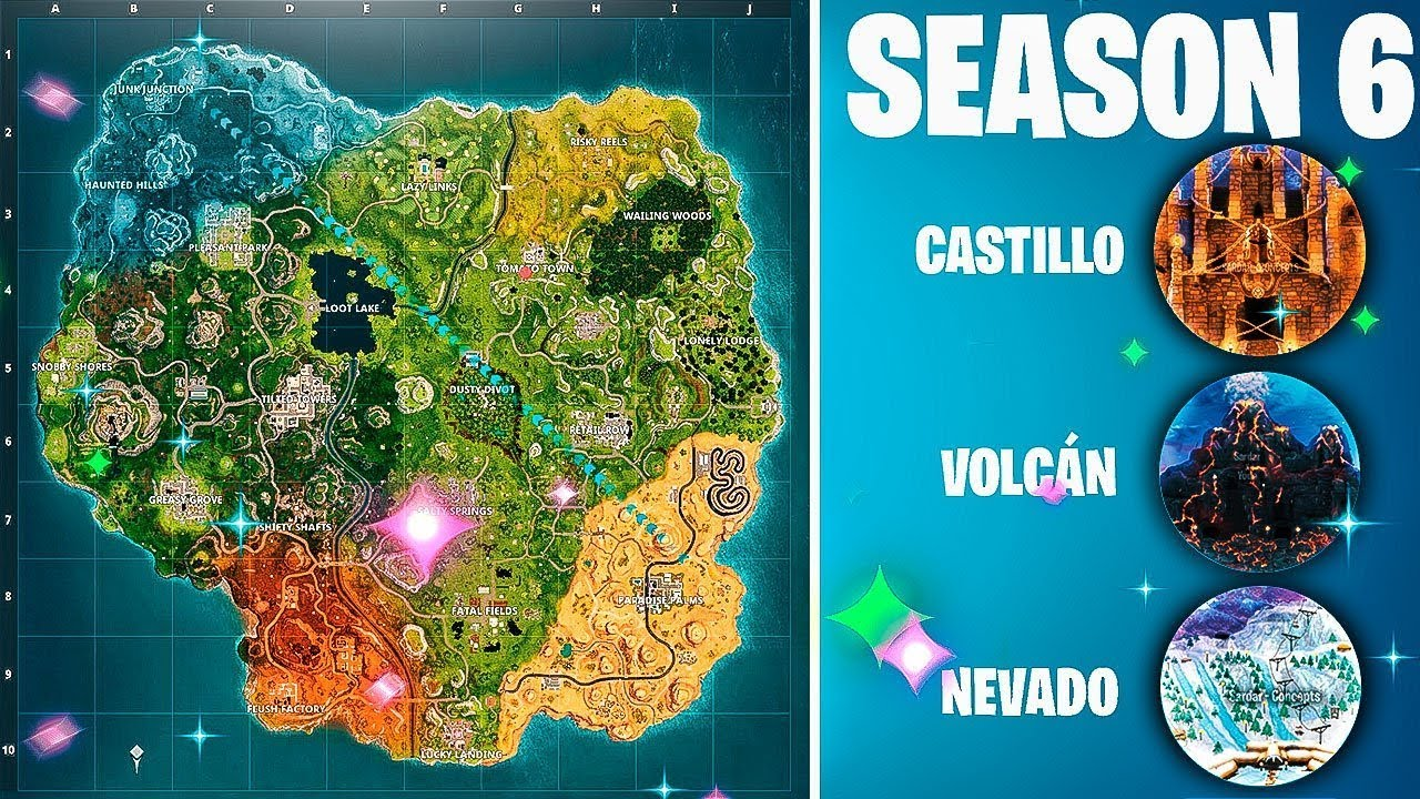 Fortnite Temporada 8 Mapa.Temporada 6 Como Sera El Mapa Fortnite Battle Royale