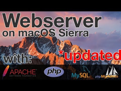 Install Full Webserver (Apache, PHP, MySQL, PhpMyAdmin) | MacOS