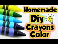 How to make Crayons Color at home/Homemade Colors/how to make colors at home in lockdown/Diy Crayons