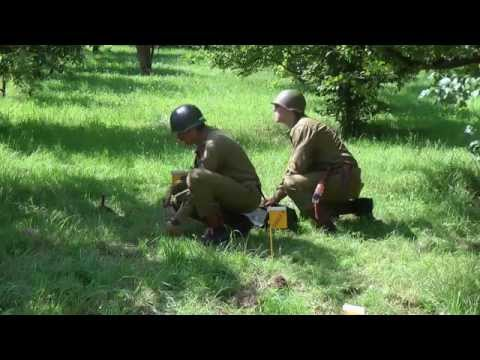 Living History 1945: WWII: the 1st Infantry division 16th RCT occupies a German village