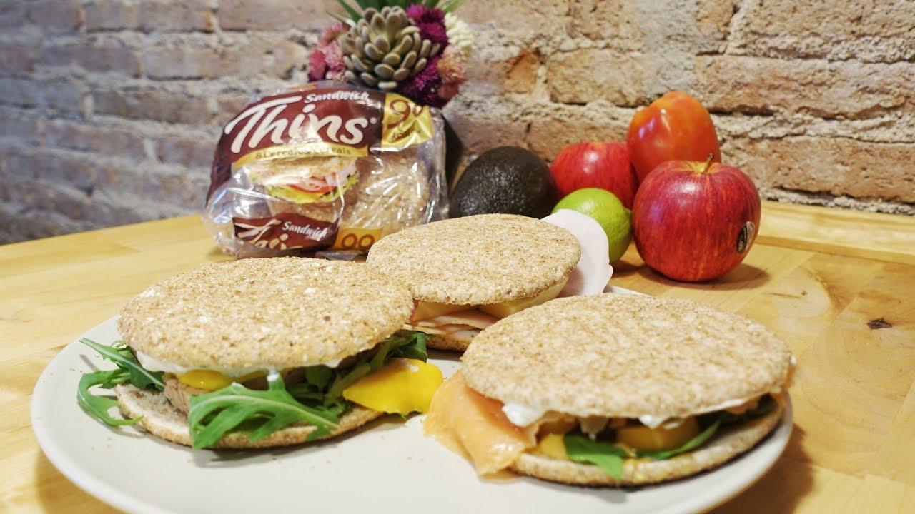 Comida rpida sana y nutritiva Tres recetas de Sandwich