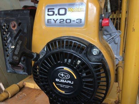 (Не)Замена масла в двигателе мотопомпы. Robin Subaru PTG 208 H